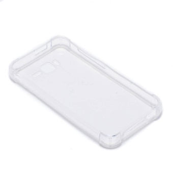 Glamorosa Mobile Clear Silicone Shock Proof Case for Cherry MobileFlare J1 (2017) (White)