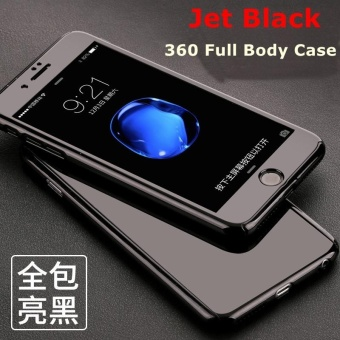 Glossy Jet Black 360 Degree Full Body Protective Case Hard PC Cover for iPhone 6 Plus