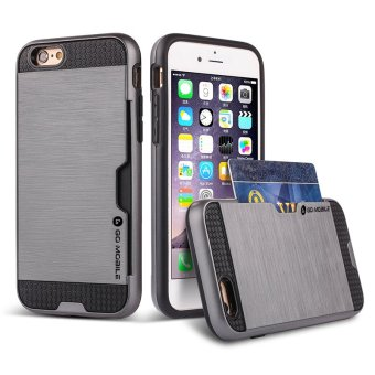 "Go Mobile Gears Kado Card Case for iPhone 6 6s Plus 5.5"" (SilverGrey)"