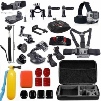 GoPro Accessories Set Shockproof Bag Phone Holder J-Hook MountSuction Cup for Go Pro Hero 4 3+ 2 1 Xiaomi Yi Sj4000 Camera