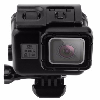 Gopro GEnerics Black Waterproof Housing Case with Touch Screen BackDoor for Gopro Hero 5 Black/ Hero5 Underwater Case (Black)