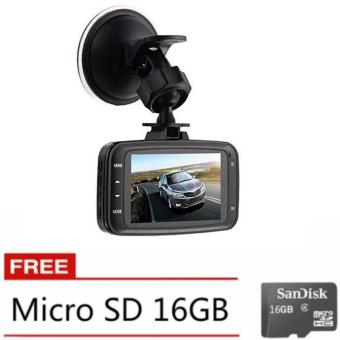 GS8000L Car DVR 1080P,HD Black Box Traveling Driving Data Recorder Camcorder Vehicle Camera Night Version Dashboard Dash Cam with 120 Degree Angle View (Black) with Free 16GB Memory Card