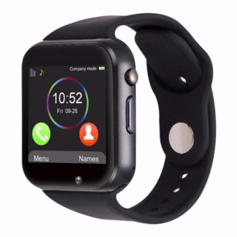 GT08 Bluetooth Smart Watch for Android IOS Smartphone (CharcoalBlack)
