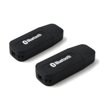 H-163 Wireless Bluetooth Music Receiver Dongle Adapter (Black) Setof 2
