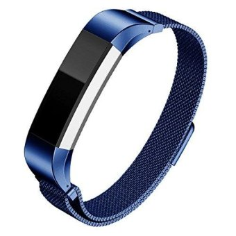 Hanles for Fitbit Alta HR Band,Milanese Loop Stainless SteelBracelet with Unique Magnetic Lock Replacement Bands for FitbitAlta and Alta Heart Rate Watchband - intl