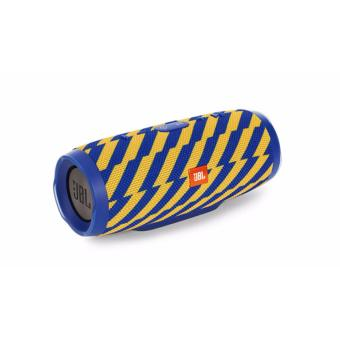 Harman JBL Charge 3 ZAP Waterproof Portable Bluetooth Speaker (Blue/Yellow)