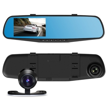 HD 1080P Dual Lens Dash Cam Car DVR Rearview Mirror CameraRearVideo Recorder M5 - intl