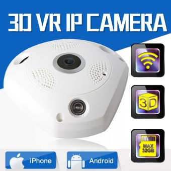 HD 960P 3D VR CCTV IP Camera Wi-Fi Fisheye Lens Night Vision Surveillance Panorama Security Wireless Camera IP 360 Degree View - intl