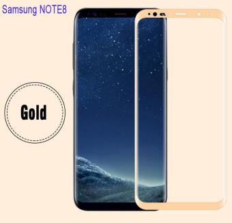 HD Tempered Glass Protector Full Coverage For Samsung Galaxy Note 8(Gold)
