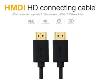 HDMI Cable HDMI to HDMI 1.4 cable 1080P 4k 3D 60FPS Cable for HD TVLCD Laptop PS3 Projector Computer Cable 1m - intl