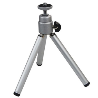 Height Adjustable Mini Tripod Camera Stand For Smartphones (Silver) - intl
