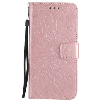 Hicase Anti-Scratch Protective Cover For Samsung Galaxy Note 5 Sunflower Style PU Leather Flip Kickstand Wallet Case Rose Gold