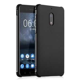 Hicase Silicone Gel TPU Bumper Air Cushion Protective Case Cover for Nokia 6 Black - intl