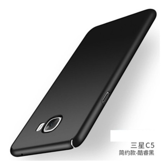 High quality 360 ultra-thin matte PC hard Cover Case For Samsung galaxy C5(C5000(Black) - intl