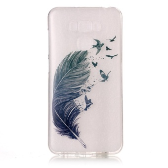 High Quality Bird feather TPU Soft Gasbag Back Case Cover For AsusZenfone 3 Max ZC553KL Case - intl