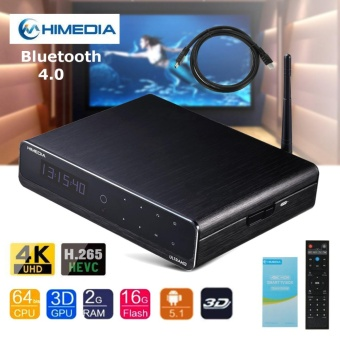 HiMedia Q10 PRO Android UHD Media Player Quad-Core 4K TV BOX HEVC H.265 With Remote - intl