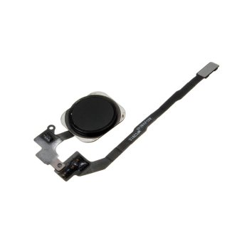 Home Button Key Flex Cable Ribbon Touch ID Sensor Assembly For iPhone 5S Black