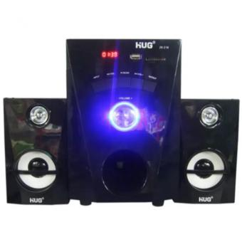 HUG H28-216 Subwoofer Speaker with USB Slot and Built-in FM Radiofor TV And Laptop (Black)
