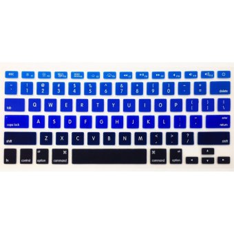 IDEAL1 Rainbow Keyboard Protector For Apple Mac-book 13.3 Inchs Air/ Pro / Retina (Blue)-(Intl) with Free Mobile Silicone Phone Case(color may vary)
