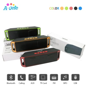 iLike Mini Bluetooth Speaker Portable Wireless Speaker Sound System3D Stereo Music Surround Support TF AUX USB FM ( RED / BLACK / BLUE/ ORANGE / GREEN )