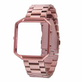 Fitbit Blaze Luxury HOCO Stainless Steel Watchband Bracelet Strap with Frame for Fitbit Blaze (Rose Gold) Price Philippines