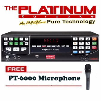 Harga Platinum Major-HD10 Hard Disc Platinum Player (Black) With Free PT-6000 Heavy Duty Wired Microphone