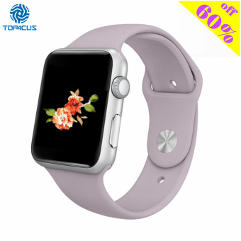 top4cus Silicone Replacement Sport Strap Watch Band for Apple Watch iwatch Series 1 and 2 - 42mm - Small/Medium - Lavender Price Philippines