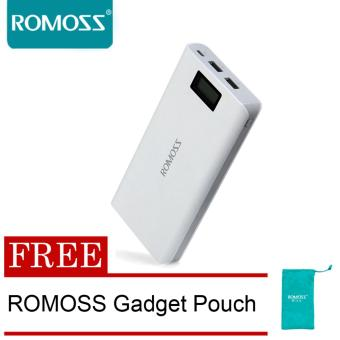 Harga Romoss Sense 6 Plus 20000mAh Power Bank (White) with FREE Romoss Gadget Pouch
