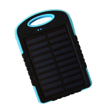 Harga Auxis Solar Charger 108000 mAh LED Power Bank with Flashlight (Blue)