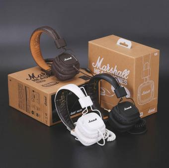 Harga Marshall Major Headphones Noise Cancelling Deep Bass Stereo Remote - intl