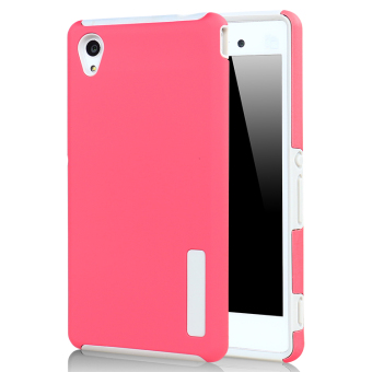 Moonmini Hybrid Combo Shockproof Back Case Cover for Sony Xperia M4 Aqua - Hot Pink Price Philippines