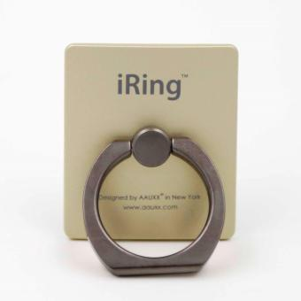 Original iRing Reusable 3-in-1 Safety Grip/Kickstand/Car Cradle for Smart Devices (Titanium Ring-Gold) Price Philippines