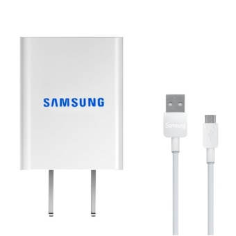 Harga 2A Travel / Home Mini Quick Charger For Samsung Galaxy S3 / S4 / J1 / J7 / J5 / A8 / A7 / A5 / A3 / E7 Whit USB Cable