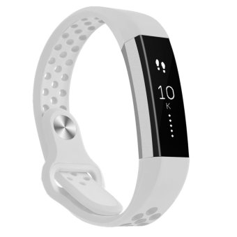 Harga Hanlesi Band for Fitbit Alta HR , Fitbit Alta , Breathable Soft Silicone Adjustable Fashion Sport Strap Band for Fitbit Alta 2 Replacement Fitness Accessory Wristband with hole - intl