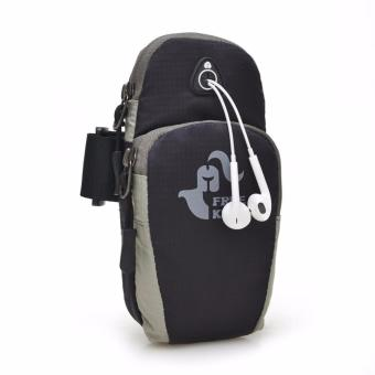 Free Knight Waterproof Mobile Phone Pouch (Black) with Stereo Earphones Price Philippines