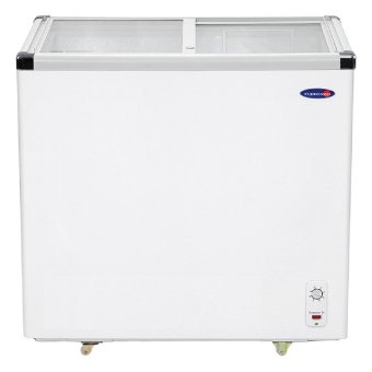 Fujidenzo 7.0 Cu.ft Sliding Glass Top Chest Freezer FD-07 ADF (White) Price Philippines