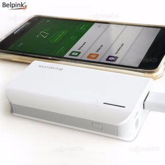 Harga Belpink 909 5000mah Portable Power Bank (White/Gray)
