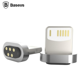 Harga (iphone) Baseus Magnetic Connector For Baseus Magnetic Lightning Micro USB Cable Adapter Data Sync Charging Cable for iPhone 7 6 6S Plus 5 iPad Air Mini Magnet Charger - intl