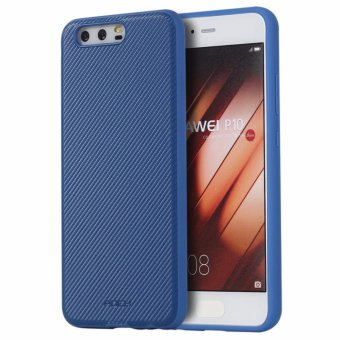 Harga ROCK Phone Case Carbon Fiber Series Back cover for Huawei P10(Blue) - intl