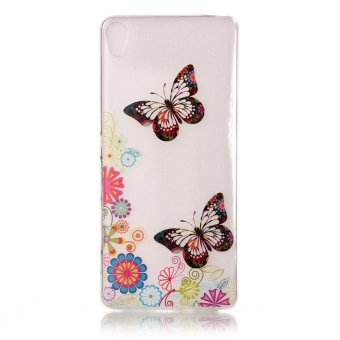 For Sony Xperia XA/XA Dual TPU IMD Mobile Cover - Lovely Flowers and Butterflies - intl Price Philippines
