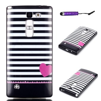Moonmini Soft TPU Phone Back Case Cover for LG Magna H502 (Stripe ) - Intl Price Philippines