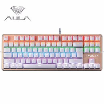 AULA F2012 Wired Mechanical Gaming Keyboard with Professional Blue Axis Keys White Price Philippines