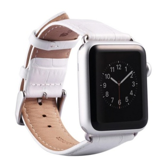 Apple Watch Band - iWatch Bands 38mm Genuine Leather Strap iPhone Smart Watch Band Bracelet Replacement Wristband with Stainless Steel Adapter Metal Clasp for Apple Watch 2 1 - intl Price Philippines