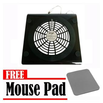 Optimax Notebook Cooler (Black) with Free Mouse Pad Price Philippines
