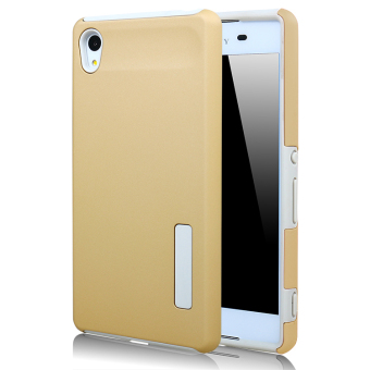 Moonmini PC/ TPU Back case for Sony Xperia Z4 (Golden) - Intl Price Philippines