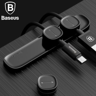 Harga Baseus Magnetic TPU Cable Clip USB Charger Cable Car Magnetic Charging Cable Winder Stand - intl