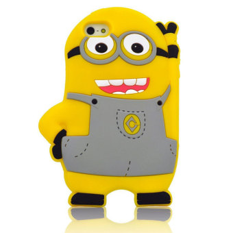Harga Leegoal 3D Cartoon Minion Despicable Me Soft Silicone Case Cover Skin For iPhone 5 5s (Gray) - intl