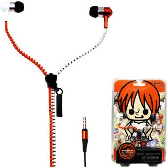 ANIME Nami One Piece Super Bass Zipper In-Ear Earphones (Orange/White) Price Philippines
