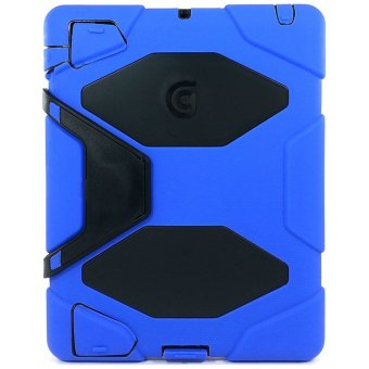 Harga Griffin Armored US Military-Grade Hard Plastic Case with Stand for iPad 2/3/4 (Blue)