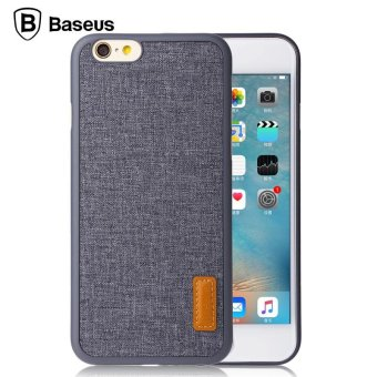 Harga Baseus for Iphone 6 Plus/6s Plus 4.7'' Stylish Grain Case Fabric Back Case PP Leather Thin Cover intl